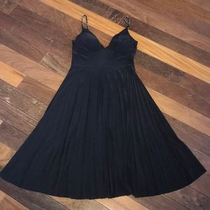 Super Cute Black Pleated Cocktail Dress Size Small